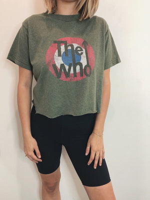 Vintage The Who Cropped Tee