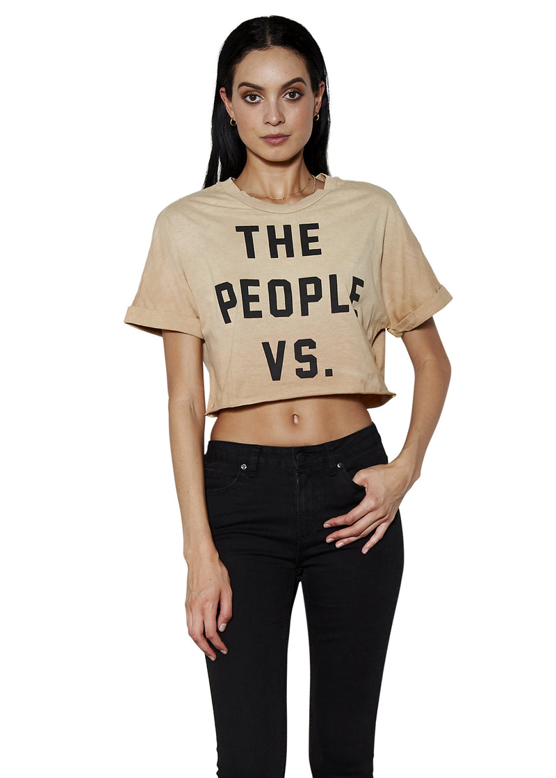 People Vs. Logo Crop Tee