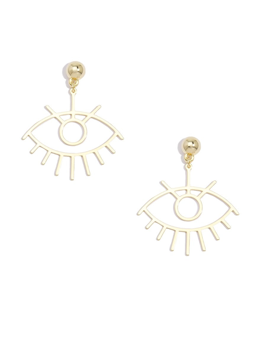 Eye-Shaped Drop Earrings