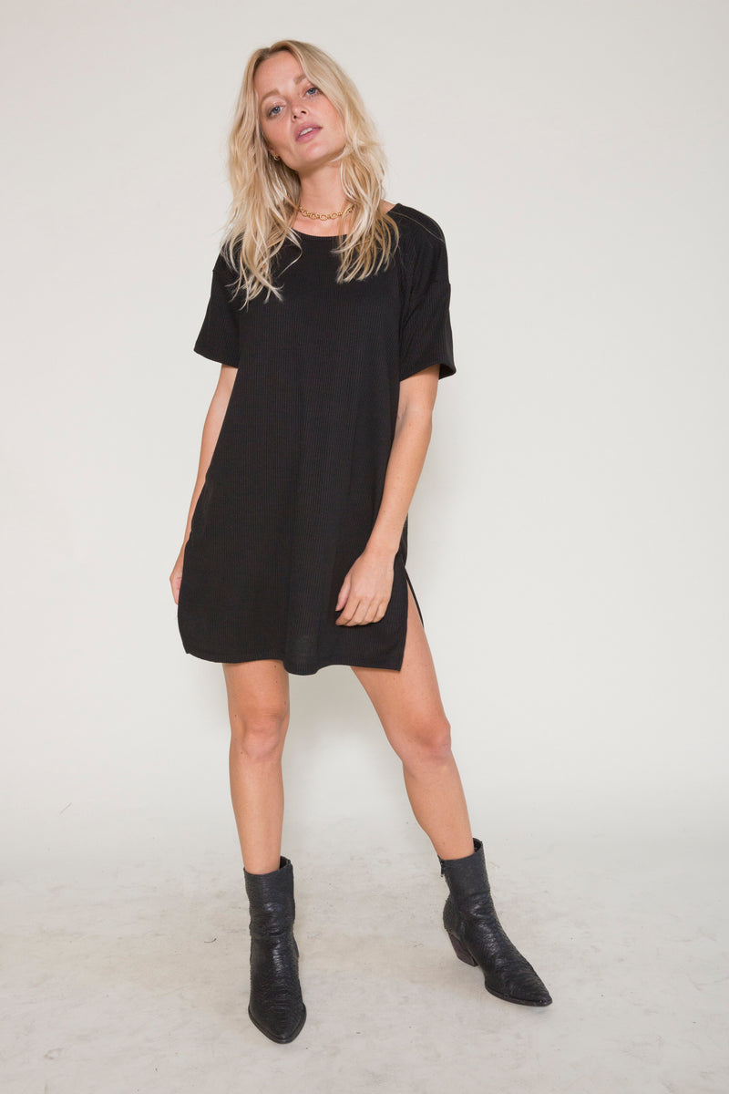 Castaway T Dress - Black