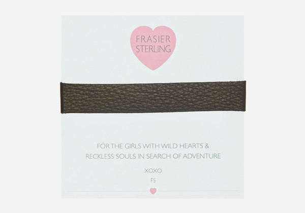 Frasier Sterling Born To Be Wild Choker - Black