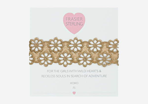 Frasier Sterling Lacey Daisy Choker - Tan
