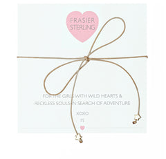 Frasier Sterling Bowtie Choker - Stars (Tan) - BIRD BEE
