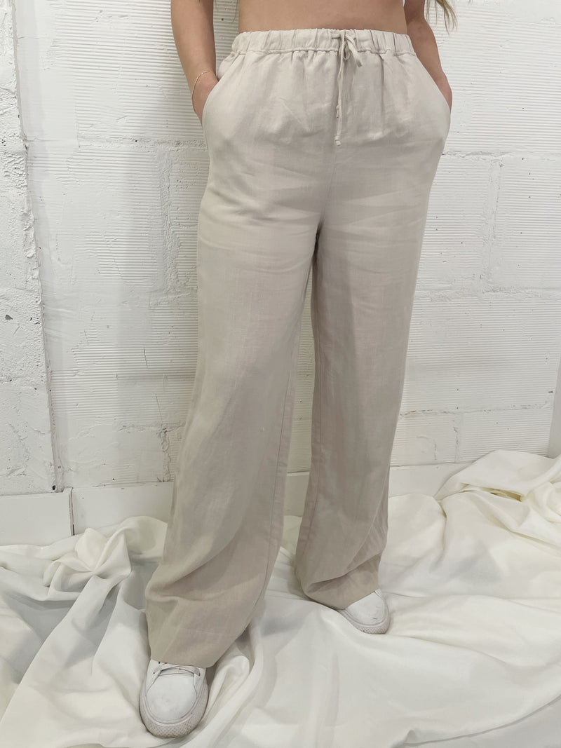 NIA Linen Pull on Pant