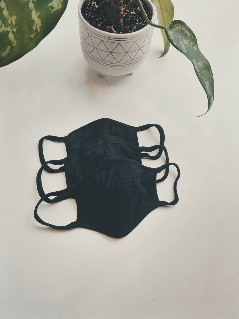*PRE-ORDER* Thermal Cotton Face Mask - Black