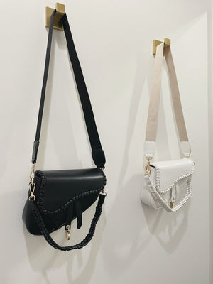 Lea Saddle Bag - White