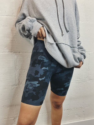 Center Stage Biker Short -  Camo