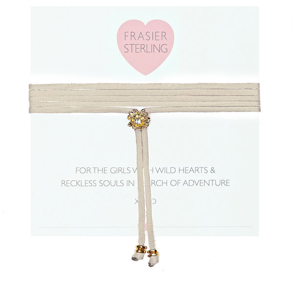 Frasier Sterling Rosebud Bolo Wrap - Cream