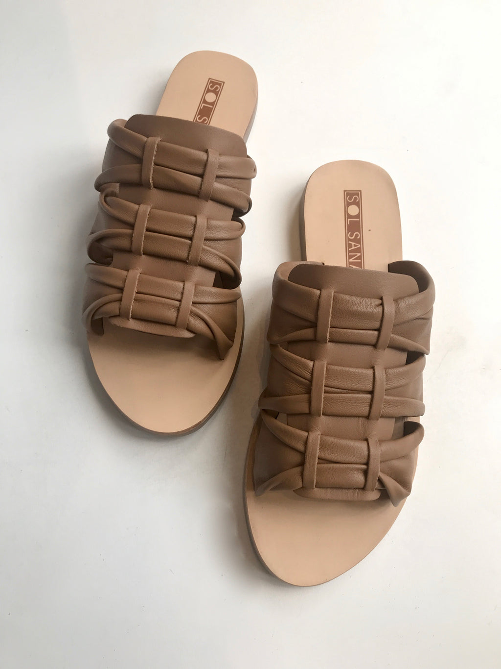Flora Slide (Black & Tan)