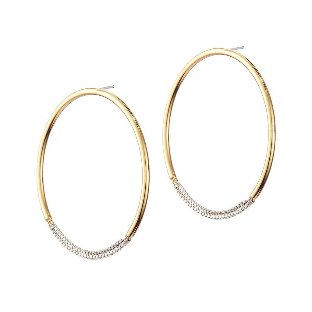 Jenny Bird Sadie - Hoops Two Tone