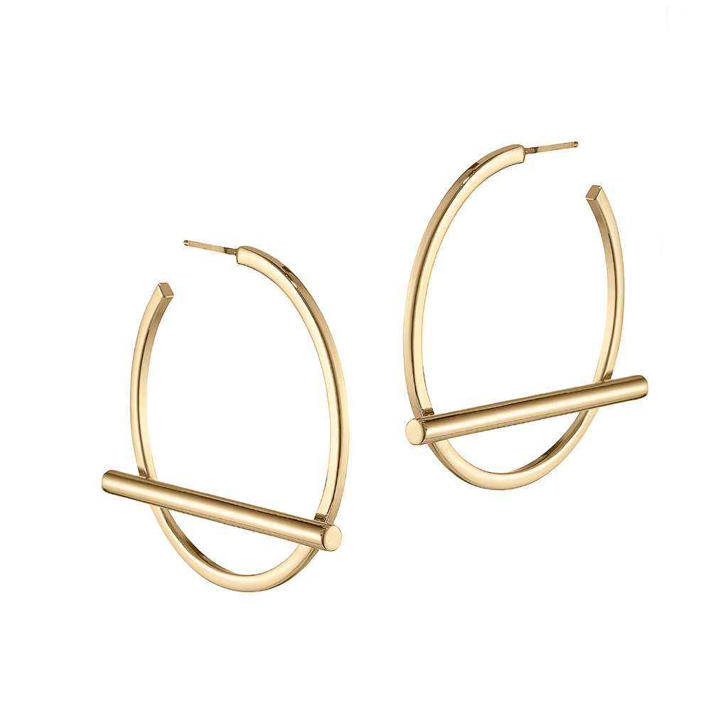 Jenny Bird Trust Hoops - Medium Gold