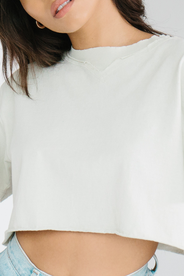 Joah Brown Cobain Crop Tee - Ivory