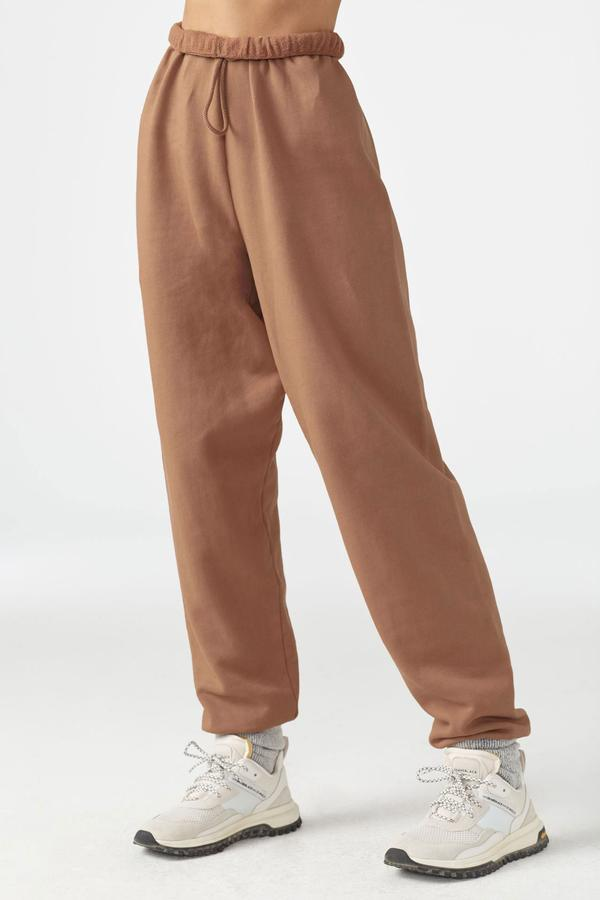 Joah Brown Oversized Jogger - Terracotta