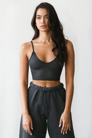 Joah Brown Strappy Crop Tank