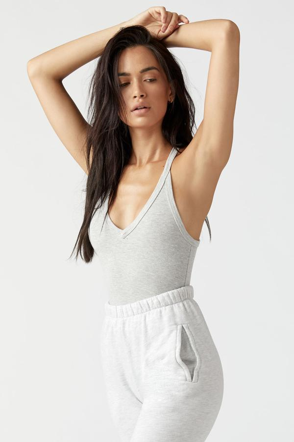 Joah Brown V Neck Racerback Tank