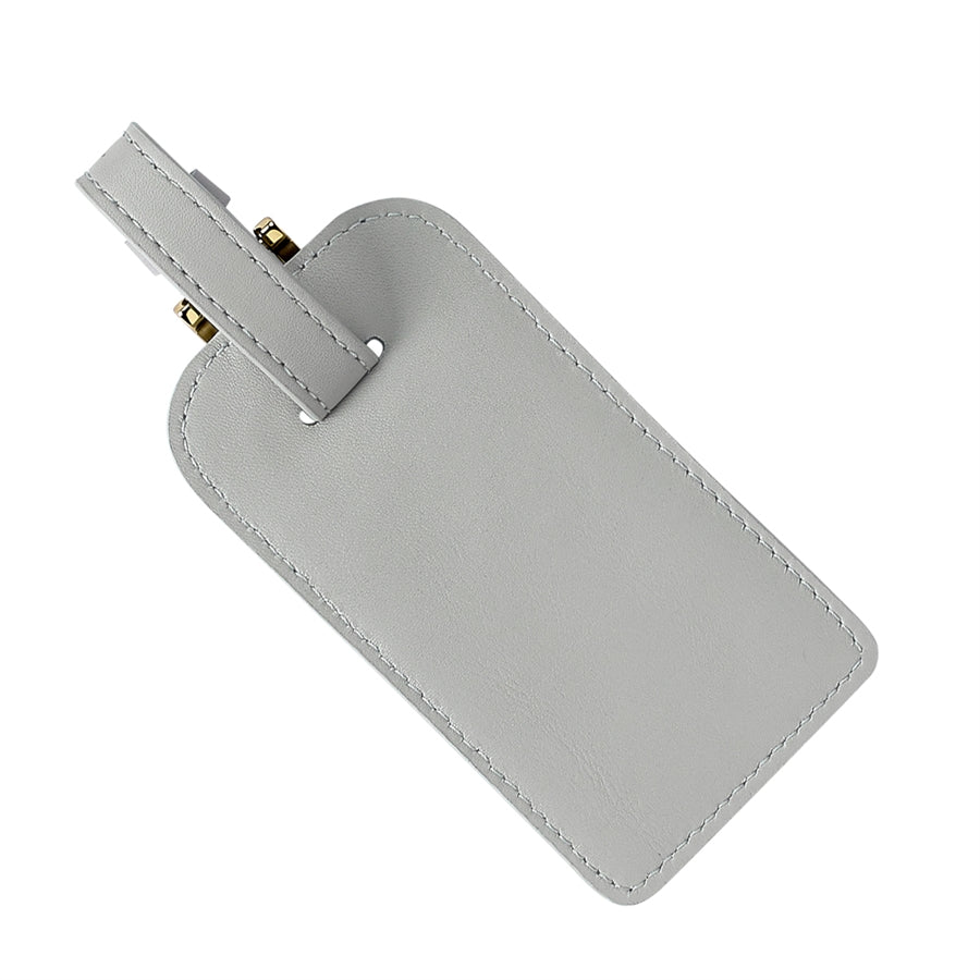 Luggage Tag -Grey Napa Luxe