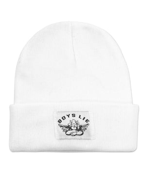 Boys Lie Beanie - White