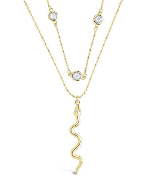 Layered Chain with Snake Pendant