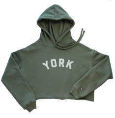York Project Olive Cropped Hoodie