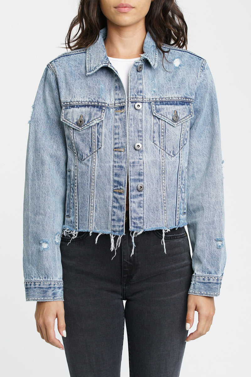 Naya Cropped Boyfriend Denim Jacket - Miami