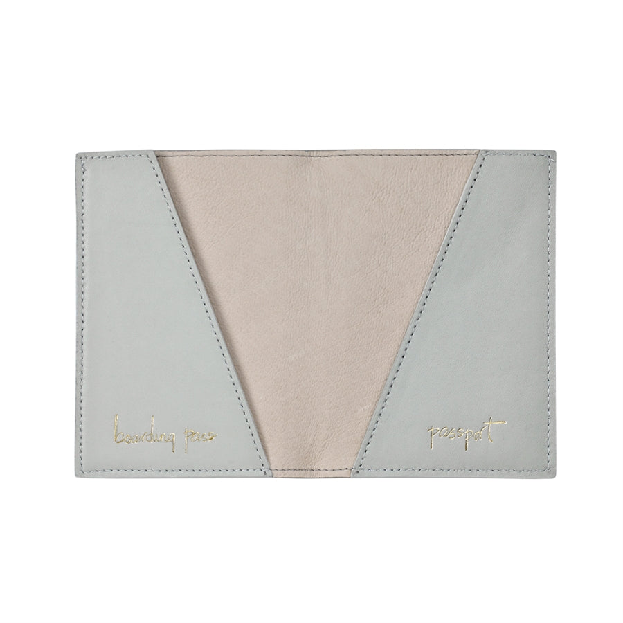 Passport Holder - Grey Napa Luxe