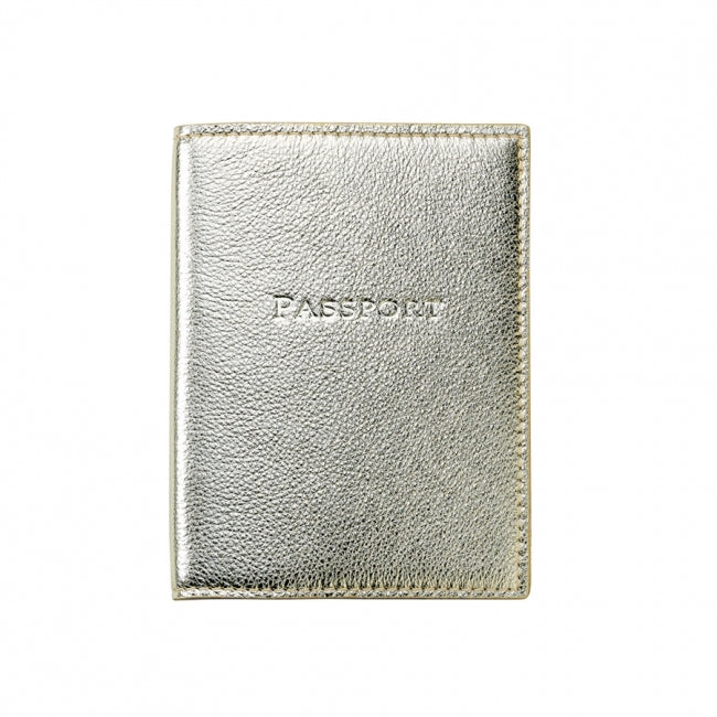 Passport Holder - White Gold