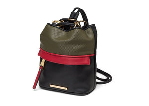 Quay - Drawstring Pack - Olive/Gold
