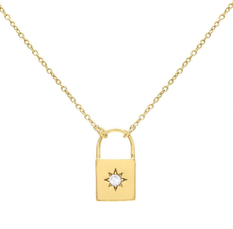 Starburst Lock Necklace