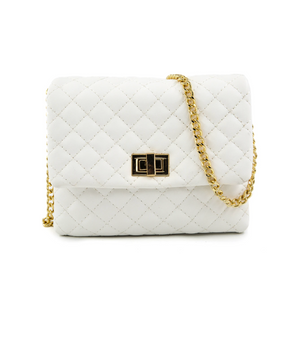 Elle Convertible Belt Bag - White