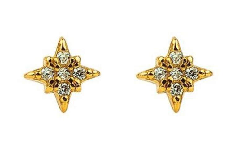 Anise Star Stud Earrings