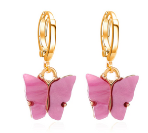Butterfly Huggie Earrings