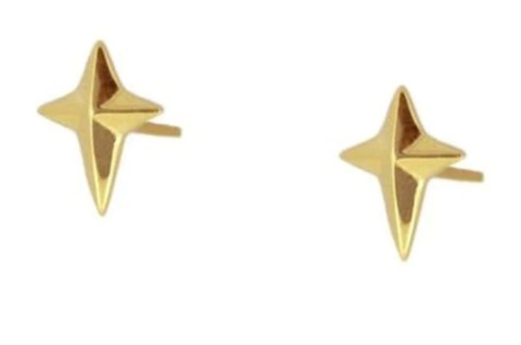 Geo Cross Stud Earrings