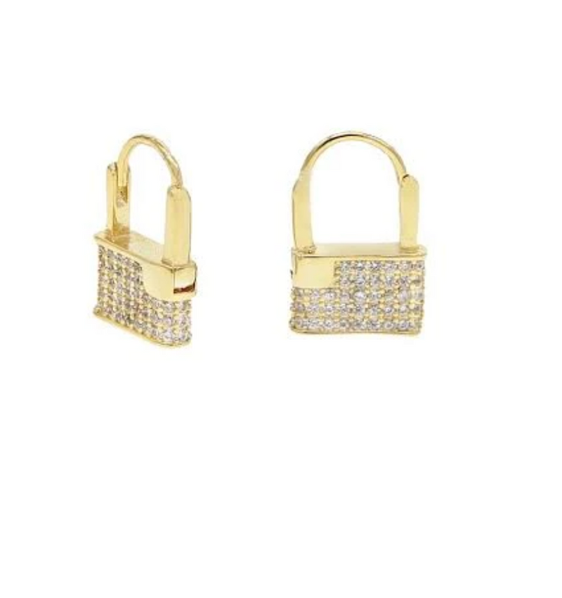 Padlock CZ Earrings