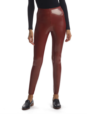 Commando Faux Patent Leather Legging - Sienna