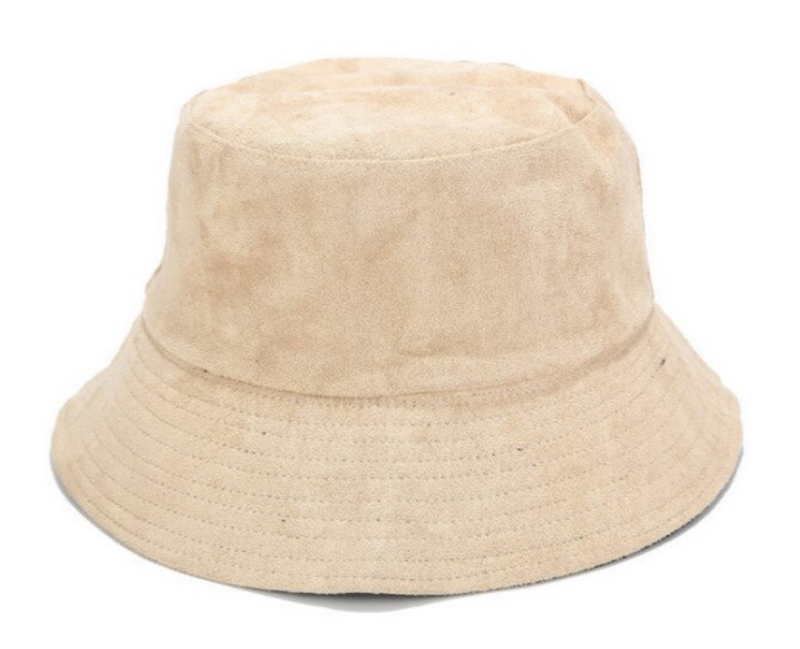 Faux Suede Reversible Bucket Hat