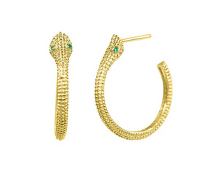 Cobra Hoop Earrings