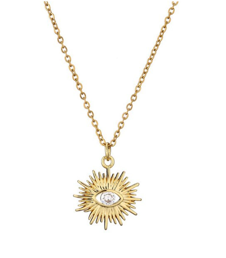 Evil Eye Sun Necklace