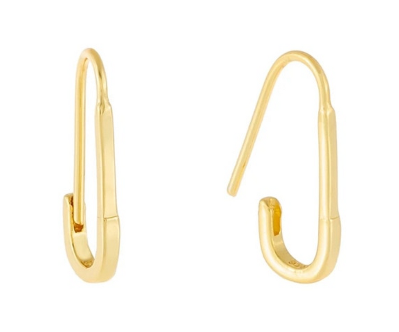 Simple Safety Pin Earrings