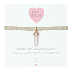 Frasier Sterling Mystic Crystal Choker - Rose Quartz - BIRD BEE