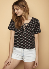 Clover Lace Up Top - BIRD BEE - 1