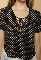 Clover Lace Up Top - BIRD BEE - 3