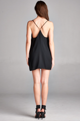 Solid Black Mini Dress - BIRD BEE - 2