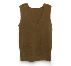 Mustard Knit Vest - BIRD BEE