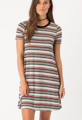 Striped Tee Shirt Dress - Free Shipping - Bird Bee