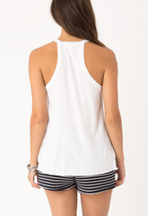 Rosette Tank - White - BIRD BEE - 3
