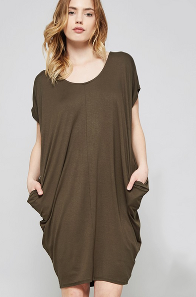 Easy Pocket Dress - Olive