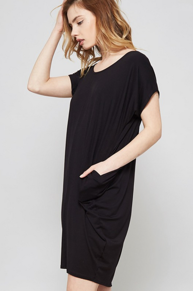Easy Pocket Dress - Black