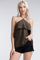 Raw Edge Halter Top