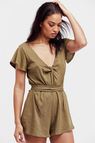 Free People Ballerina Wrapped Romper