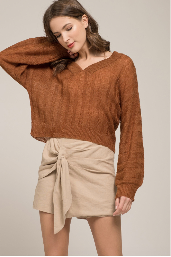 Caramel Knit Sweater